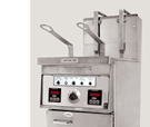 14 TS Fryer shown with basket-lift option