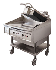 Miraclean Griddle shown with Top-Side Cooking Head